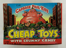 Vintage Topps 1986 Garbage Pail Kids Cheap Toys & Crummy Candy Display Box Full