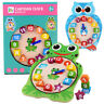 Animal Wooden Clock Puzzle 12Numbers Match Child Early Educational Kids Toy AN