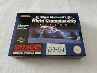 Nigel Mansell's World Championship - Super Nintendo SNES Game [PAL UKV] CIB Seal