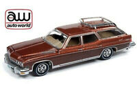 AUTO WORLD 1:64 CINNAMON POLY/WOOD GRAIN 1974 BUICK ESTATE WAGON VERSION B
