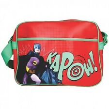 Red DC Comics Batman Originale 1966 Bum Borsa A Tracolla Messenger BRUCE WAYNE