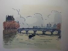 37/ AQUARELLE PARIS / Le Pont Royal