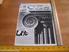 Uranium Hoax 1980s Original Punk Rock concert poster Anti Club Ca