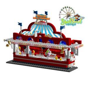 """Kirmesbude """"Circus Lollipopcorn"""" Bauplan für LEGO/ andere Klemmbausteine."""