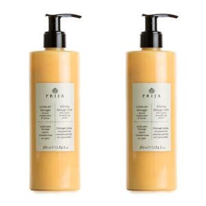 Prija 2x Massage-Lotion aromatherapeutisch mit Zypressenduft Massagelotion Spa