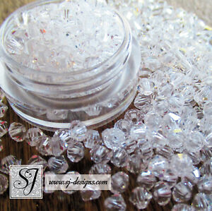 720 PRECIOSA 4mm Crystal Rondell MC beads 5 Gross FULL PACKAGE clear crystal