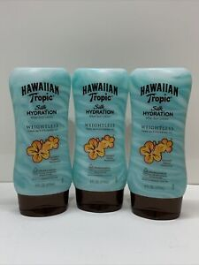 (3) Hawaiian Tropic Silk Hydrating Ribbon & Aloe After Sun Lotion 6oz