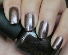 OPI Bond WORLD IS NOT ENOUGH Brown Gray w/ Pink Shimmer Nail Lacquer Polish D18