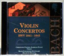Bach: Violin Concertos, BWV 1041-1043 (CD, Oct-1999, Haenssler)