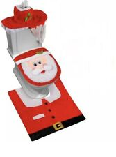 3PCS CHRISTMAS FESTIVE SANTA TOILET SEAT COVER SET SETS DECORATION XMAS