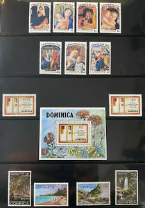 DOMINICA    Beautiful  Mint  NEVER  Hinged  Sets    AG