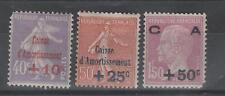 France - 249 à 251 neufs ** et * - Caisse d'Amortissement - C: 147,00 €