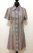 SUR LE TOITS DE PARIS Abito Vestito Donna Optical Woman Dress Sz.S - 42