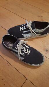 Girls Vans Blue Lace Up Shoes UK 5 Eur 38