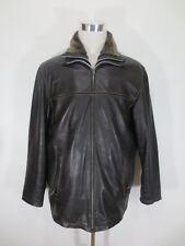 Men's Leather Jacket Nic Bonita M L Coat Braun Quilted Lining Faux fur / GG4