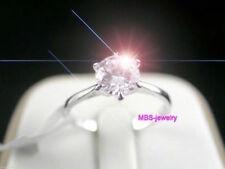 1 Ct Stunning Perfect Round Cut 18ct White Gold GP Engagement Wedding Ring