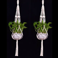 JT_ Tassel Pot Holder Macrame Plant Hanger Hanging Planter Basket Jute Braided