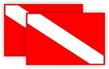 Scuba Diving Gear Helmet Stickers Flag | Dive Flags Decals Labels Submerisible