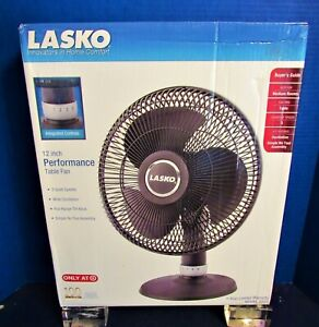 "New Lasco 12""  Full Range Performance Fan 3 Quiet Speeds Wide Oscillation T-Back"