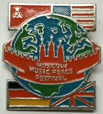 Very Cool 1989 Moscow Music Peace Festival Pin-Excellent Condition!