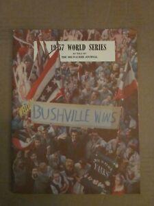 "1957 WORLD SERIES MILWAUKEE JOURNAL ""BUSHVILLE WINS"" NEW YORK YANKEES VS BRAVES"