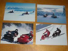 4 Vintage 1988? SKI-DOO SNOWMOBILE Advertising Postcards MACH 1 FORMULA PLUS MX