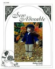 """Sew Adorable Doll Clothes Pattern, fits 18"""" American Girl, Riding Outfit"""