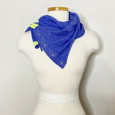 Ivivva Girls Blue Yellow Snap Village Chill Convertible Infinity Scarf