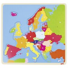 GOKI - 57509 - JOUET EN BOIS - PUZZLE A ENCASTREMENT - EUROPE