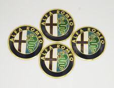 4Pcs Black 56.5mm Car Wheel Center Hub Cap Badge Emblem Sticker Fits Alfa Romeo