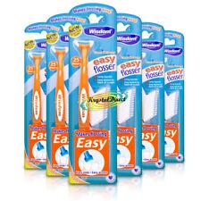6x Wisdom Clean Between EASY FLOSSER Handle & 25 Toothpick Floss Heads
