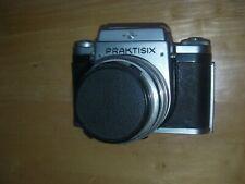 1957 Praktisix SLR Film Camera with Carl Zeiss Jena Tessar 2.8/80mm Lens, Faulty