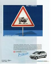 Publicité Advertising 097 2000  la Citroen Picasso Xsara