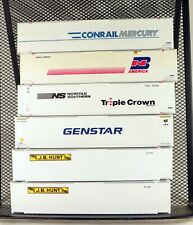(6) Athearn 48' Containers Various Roadnames HO Scale 1/87