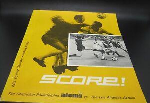 1974 NASL North American Soccer Philadelphia Atoms Vs. LA Aztecs Program