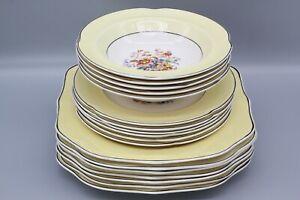 Johnson Bros Pareek lemon and white china breakfast set with floral design