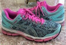Asics GEL-Kayano 22 Lite-Show Women's Pink Aqua-Splash Running Shoes Sz 9 T5A6N