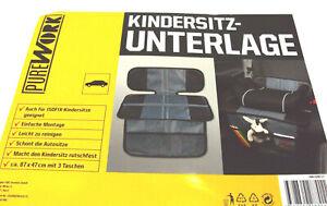 Kindersitzunterlage,Unterlage für Kindersitze,ca.87 x 47 cm mit 3 Taschen