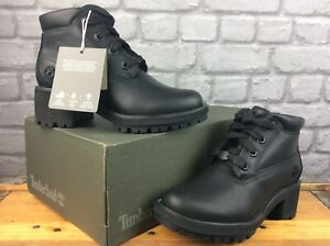 TIMBERLAND LADIES KINSLEY NELLIE GLITZ BOOTS BLACK LEATHER RRP £120 C