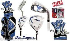 Ben Sayers M15 Full Golf Club Complete Set Cart Bag Mens New Steel Clubs Irons
