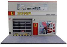 Diorama présentoir Ferrari - Damrémont Automobiles - 1/24ème - #24-2-E-E-005