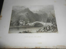 1844 STEEL ENGRAVING CLUSE ON THE IN SAVOY FRANCE ALPS ENGRAVER WALLIS