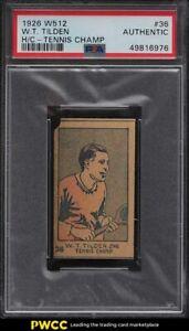 1926 W512 Strip Card Tennis Champ William T. Tilden #36 PSA Auth