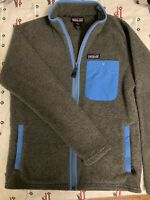 Patagonia Synchilla Full Zip Snap-T Fleece Jacket Gray/Blue Women's Small Xs