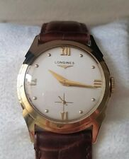 Vintage Longines 14K Yellow Gold Case 30mm Hand-Winding Circa 1950s Watch
