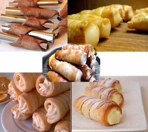 20 Pcs CREAM HORNS HORN Molds Filled Desserts Pastry Maker Metal NEW ТРУБОЧКИ