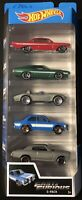 2019 Hot Wheels New Fast and Furious 5 Pack