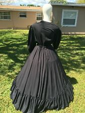 Civil War Reenactment Mourning Day Dress Black
