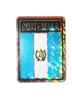 GUATEMALA COUNTRY FLAG  METALLIC BUMPER STICKER DECAL .. 4 X 3 INCH