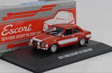 1974 Ford Escort RS 2000 MKI rot / weiße Streifen 1:43 Greenlight